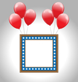 Photo frame in US national colors with balloons vector image