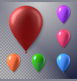 photorealistic air balloon set vector image