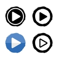 Play music icons buttons white and black vector image vector image