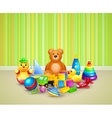 Play room background vector image vector image