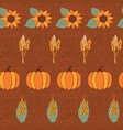 pumpkins corn sunflowers wheat crop on vector image