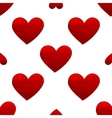 Red heart shape seamless vector image vector image