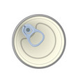 ring of the can to open of food aluminum cans vector image vector image