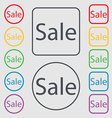 Sale tag Icon for special offer Symbols on the vector image