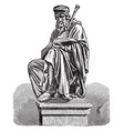 sculpture of john wycliffe vintage vector image vector image