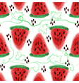 Seamless pattern of sweet juicy pieces watermelon vector image vector image