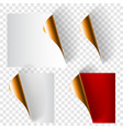 set curled paper corners vector image