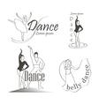 set dancing emblems vector image vector image