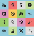 set of 16 editable clinic icons includes symbols vector image vector image