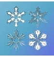 set of lace snowflakes vector image vector image