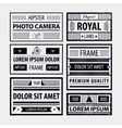 set of modern hipster frames labels vector image