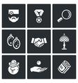Set of Pawnshop Icons Appraiser Jewel vector image vector image