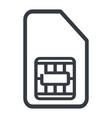 sim card contour icon vector image