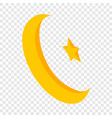 star and crescent isometric icon vector image vector image
