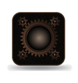 steampunk style photo icon vector image
