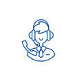 support consultant line icon concept support vector image vector image