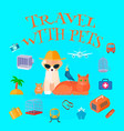 travel with pets background vector image vector image