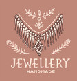 victorian necklace label women jewelry shop badge vector image vector image