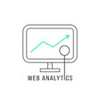 web analytics with black thin line pc vector image