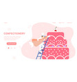 web page design template for confectionery vector image vector image