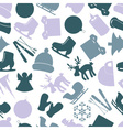 winter icons color pattern eps10 vector image vector image