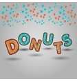 donuts seamless pattern design 3d letters vector image