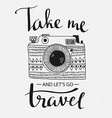 Retro photo camera with grunge background and vector image
