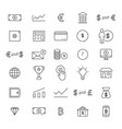 30 line finance icons vector image vector image