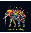 a abstract elephant animal vector image