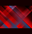 abstract red blue tech minimal background vector image vector image