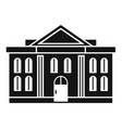administrative courthouse icon simple style vector image vector image