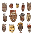 African Masks set