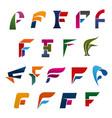 alphabet letter f modern font for branding design vector image vector image