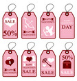 assortment of pink labels for valentines day vector image vector image