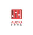 audio book logo vector image