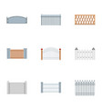 barrier icons set flat style vector image