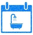 Bath Calendar Day Grainy Texture Icon vector image vector image