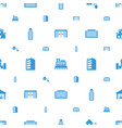 building icons pattern seamless white background vector image vector image
