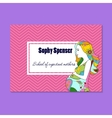 Business card for school of expectant mothers vector image vector image