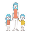 caricature color sections and blue hair of full vector image vector image