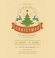 christmas party invitation retro typography vector image vector image