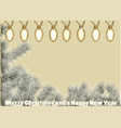 christmas tree with light vector image vector image