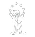 circus clown juggler doodle style vector image