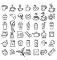 coffee icon set outline with accessories and vector image vector image