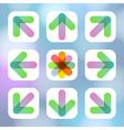 Colorful Arrow Icon Flat Menu vector image