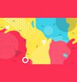 colorful cartoon color splash background childish vector image vector image