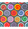 Colorful seamless pattern spiral Retro abstract vector image vector image