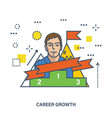 concept of career growth and success or leadership vector image vector image