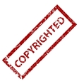 Copyrighted stamp vector image