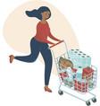 coronavirus panic shopping covid-19 concept vector image